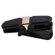 Myhouse Glasses Holders for Car Sun Visor Black Sunglasses Ticket Receipt Card Clip