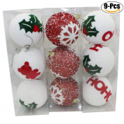 Christmas Ball Pendant, Outgeek 9Pcs Christmas Hanging Balls Xmas Tree Decoration Party Hanging Ornament Decor