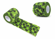 Vellhater 3 Rolls Self-adhesive Camouflage Wrap Hunting Tape Nonwovens Tape