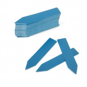 sea-junop 100Pcs Plastic Plant Nursery Garden Pot Sticks Stake Tags(Blue)