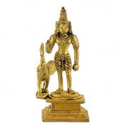 Gangesindia Lord Kartikeya Brass Statue
