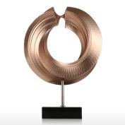 Tomfeel Modern Twist Circle Statue Fibreglass Sculpture Home Decoration Original Design