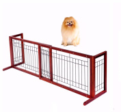 Pet Dog Adjustable Wood Gate Fence Indoor Solid Construction Free Standing from 100cm - 180cm