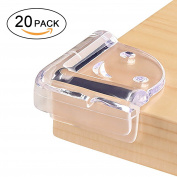 Topgalaxy.Z 20PCS Clear Table Corner Guards Edge Protector for Home Baby Safety
