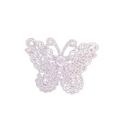 Butterfly Embroidery DIY Clothes Accessories Pink Lace Patch Clothing Decals