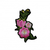 Flower Patch Clothing Accessories Flowers Embroidery Applique Clothes Decoration,Gold Flower