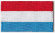 Luxembourg Flag Iron On Patch 6.4cm x 3.8cm