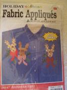 Reindeer Trio Holiday Iron-On Applique Kit