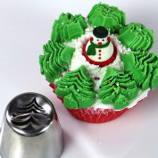 Cake Mould,Hunzed 6pcs Christmas Steel Cake Lcing Piping Cake Mould Decorating Nozzles Tips Baking Tool