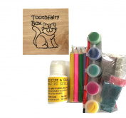 Decorate Your Own Wood Tooth Fairy Box KITTY CAT for Boys and Girls Craft Kit