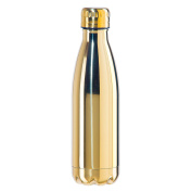 Oggi 8096.4 Stainless Steel Elektra Double Wall Vacuum Sealed Sport Bottle with Screw Top (.5 LT, 500ml)-Electroplated Gold