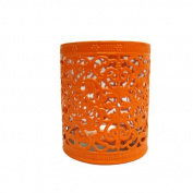Fantado Decorative Cup Candle Holder - Orange by PaperLanternStore