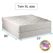 """Legacy Twin XL Size (100cm x 200cm x 8"""") Mattress and Box Spring Set - Fully Assembled, Good for your back, Superior Quality - Long Lasting and 2 Sided - By Dream Solutions USA"""
