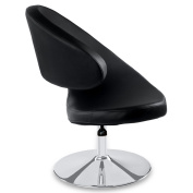 Shell Swivel Adjustable Height Occasional Chair - Black