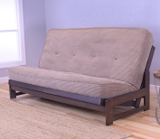 Tantra Chanterelle Omaha Futon Frame in Reclaimed Mocha with Mattress