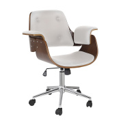 Porthos Home Orion Adjustable Office Chair, White