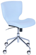 Elle Décor Madeline Hourglass Task Chair in Pastel Blue