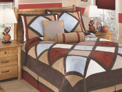Ashley Furniture Signature Design - Academy Bedding Set - Full - Contains 2 Accent Pillows, 2 Shams & Comforter - Multicolor