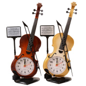 Liangxiang Creative Violin Alarm Clock Quartz Movement Desk Decoration Great Gifts for Kids or Music Lovers