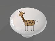 Funny Giraffe High Gloss Ceramic Drawer Knob