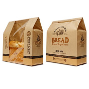 Astra shop Pack of 30 Kraft Food Packaging Paper Bread Loaf Bakery Bag with Front Window