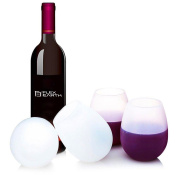 Silicone Wine Glasses, Set of 4 -350ml, 100% BPA Free, Dishwasher Safe, Unbreakable Rubber Wine Cups, Clear Silicone, Drinkware Set for BBQ, Pool, Camping & Picnics