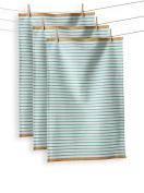 KAF Home Hampton Stripe Kitchen Towel, Turquoise