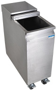 Stainless Steel Mobile Ice Bin on Casters - 24kg Ice Capacity
