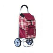 J & M Lightweight 2 Wheel Large Capacity Shopper Luggage Cart ,Shopping Trolley, 51L , 4#