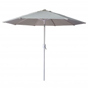 ShadeRest 2.4m Outdoor Steel Table Patio Umbrella with Tilt and Crank, 8 Ribs, Beige