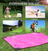 SupplyDistrict - Large (160cm x 110cm ) Pocket Blanket for Outdoor, Camping, Picnic, Beach, Hiking