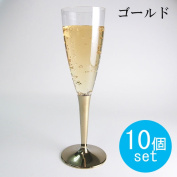 Light mosaic glass of champagne gold stem 10 with / commercial store party parties catering kitchen disposable plastic glass cup Tower