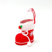 Ruikey Christmas Gift Candy Boots Decoration Bag Pouch Portable Gift Baskets