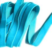 1.6cm Velvet Ribbon Teal Colour 5 Yards