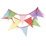 Da.Wa Pennant Small floral pattern Cotten Cloth Banner Pennant Party Rainbow String Curtain Banner Flags for Decorations, Birthdays, Event Supplies, Festivals