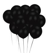 Mromick 100Pcs Black Latex Balloons Halloween Birthday Party Room Ornament Decor