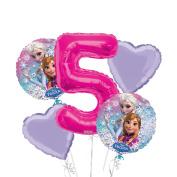 Frozen Balloon Bouquet 5th Birthday 5 pcs - Party Supplies
