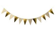 Glittering Triangle Gold Banner, 2.4m