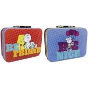 "WL SS-WL-24429 Peanuts' Charlie Brown ""Be A Friend""/""Be Nice"" Snoopy Mini Tin Totes"
