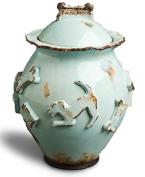 Carmel Ceramica PDJB3003 Baby Blue Dog Treat Jar