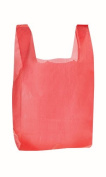 RG Large Plastic Grocery T-shirts Carry-out Bag Red Unprinted 12 X 6 X 21 100ct