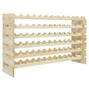 Best Choice Products Wine Rack 72 Bottles Stackable Storage 6 Tier Solid Wood Display Shelves