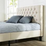 Zinus Upholstered Modern Classic Tufted Platform Bed, Queen