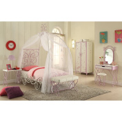 ACME Furniture 30539 Priya II Vanity Set, White & Light Purple