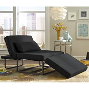 Relaxalounger Amare Otto-Kube Convertible Chaise Lounge in Charcoal