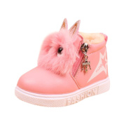 Honhui Fashion Baby Boys Girls Cute Animal Sneaker Children Boots Warm Zipper Casual Shoes (21