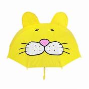 Kids cartoon umbrella,3D animal shape manual open umbrella,46cm colourful rainproof umbrella for boys and girls