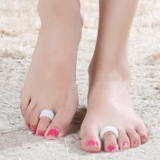 Toe Pads - Corrector & Straightener for Curled, Curved, Claw & Mallet Toe Relief - Right & Left Gel Support Crest Cushion