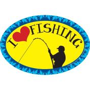 Prismatix I Love Fishing Magnet