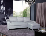 US Pride Furniture Kachy Fabric Convertible Sleeper Sectional Sofa Bed & Facing-Right Chaise, Grey